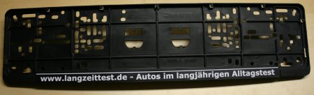 Kennzeichenhalter von Langzeittest.de.